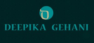 brand logo of indian fashion designer deepika gehani