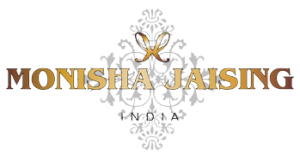 brand logo of indian fashion designer monisha jaising