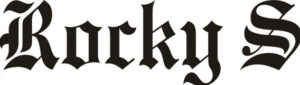brand logo of indian fashion designer Rocky S