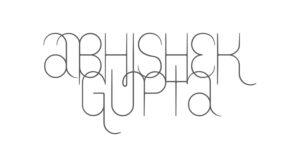 brand logo of indian fashion designer abhishek gupta