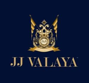brand logo of indian fashion designer jj valaya