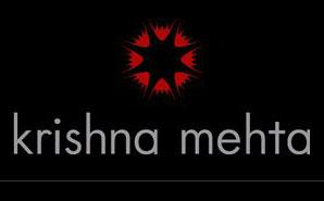 brand logo of indian fashion designer krishna mehta