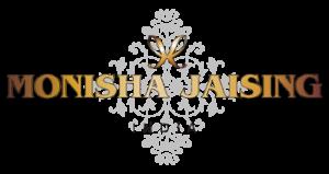 brand logo of indian fashion designer monisha jaising