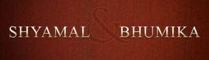 brand logo of indian fashion designers shyamal and bhumika